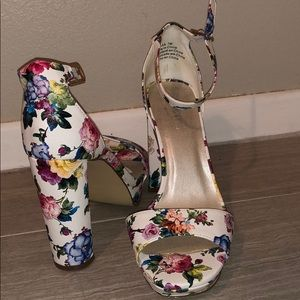 Floral heels from David's Bridal